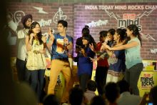 Boxer Vijender Singh at the India Today Mind Rocks Chandigarh 2014