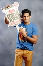 Vijender Singh poses for a shoot at the India Today Mind Rocks Youth Summit 2014.