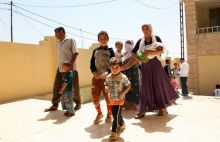 Yazidi women held captive by militants in Iraq