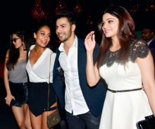 Varun Dhawan, Lisa Haydon and Shamita Shetty