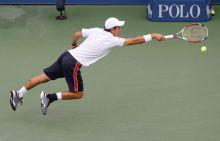 Nishikori in action