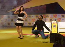 Sophie Choudry and VJ Andy