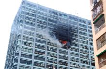 Fire at Chatterjee International Centre building in Kolkata