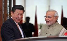 Prime Minister Narendra Modi, poses with Chinese President Xi Jinping