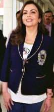 Nita Ambani, ISL chief and owner of Mumbai Indians (IPL)