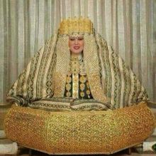 Wedding dress made out of gold