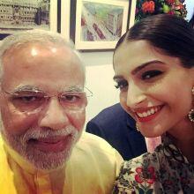 Narendra Modi and Sonam Kapoor