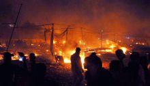 Fire at Diwali cracker market in Faridabad
