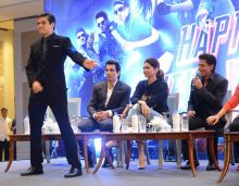 Vivaan Shah dances as the others look on