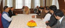 Modi with government officials