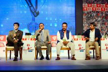 Sourav Ganguly, Clive Lloyd, Arjuna Ranatunga and Allan Border