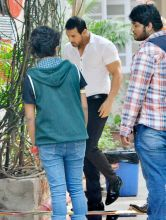 Post his jail stint, Shiney Ahuja was spotted shooting with John Abraham, for their upcoming film Welcome Back, in Mumbai.