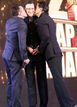 Salman Khan, Shahrukh Khan, Rajat Sharma.