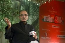 Finance Minister Arun Jaitley at Agenda Aaj Tak 2014