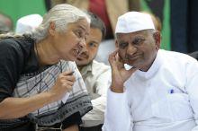 Medha Patekar and Anna Hazare