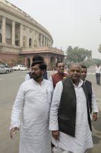 Budget Session Day 2, Jai Prakash Yadav (left), Mulayam Singh Yadav, Land Bill