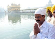 Kejriwal at Golden Temple