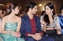 (L-R) Alia Bhatt, Sidharth Malhotra and Katrina Kaif at the 17th Mumbai Film Festival