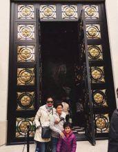 Namrata Shirodkar, Gautham and Sithara in Paris