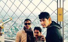 Mahesh Babu, Namrata Shirodkar, Gautham in Paris