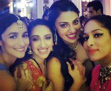 Alia Bhatt and Anushka Ranjan at Masaba Gupta's wedding reception