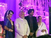PM Narendra Modi at Harbhajan Singh and Geeta Basra's wedding reception