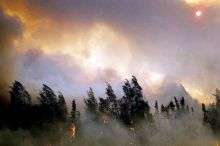 wildfire in Western US