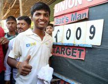 Pranav Dhanawade scores 1000 runs in an innings
