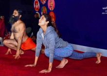 Shilpa Shetty at Baba Ramdev's Yoga camp