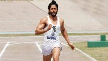 Farhan Akhtar in a still from Bhaag Milkha Bhaag