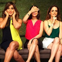 Bipasha Basu with Malaika Arora Khan and Sussanne Khan