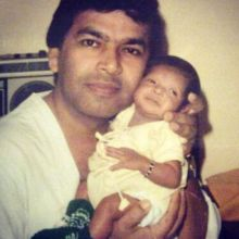 Bipasha Basu with father Hirak Basu