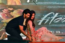 Katrina Kaif and Aditya Roy Kapur during the promotions of Fitoor