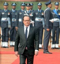 Narendra Modi with Francois Hollande