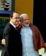 PM Modi and French President Hollande.
