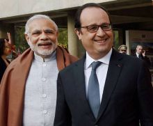 French President Hollande and PM Modi.