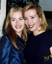 Kate Winslet (L) and Emma Thompson