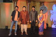 Shravan Reddy, Uday Tikekar, Jiten Lalwani pose for shutterbugs at the launch of Colors show Krishnadasi.