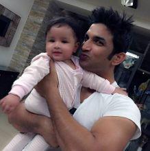 Sushant Singh Rajpiy with Ziva Dhoni