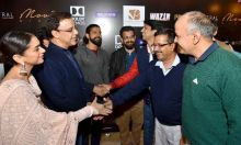 Aditi Rao Hydari, Vidhu Vinod Chopra, Bejoy Nambiar and Manish Sisodia at Wazir screening
