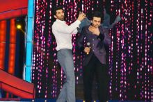 Aditya Roy Kapur (L) and Manish Paul
