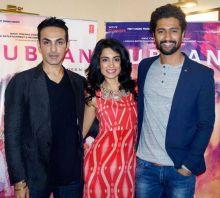 (L-R) Morez Singh, Sarah Jane Dias and Vicky Kaushal
