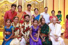Nakul and Sruti at the wedding