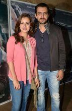 Dia Mirza and Sahil Sangha at Neerja screening