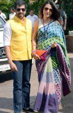 Kabir Khan and Mini Mathur at Arpita Khan's baby shower