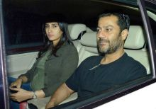 Abhishek Kapoor and Pragya Yadav at Fitoor screening
