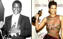 Sidney Poitier and Halle Berry