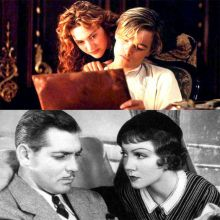Stills from Titanic and It Happened One Night