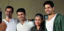 Rajat Kapoor, Fawad Khan, Ratna Pathak and Sidharth Malhotra in a still from Kapoor and Sons