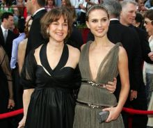 Natalie Portman with her mother Shelley Hershlag
